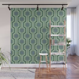 Retro-Delight - Humble Hexagons - Mint Wall Mural