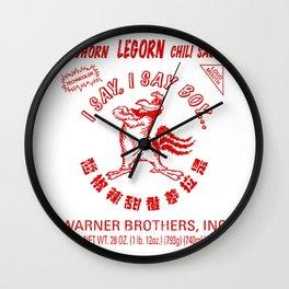 Foghorn Leghorn Sauce (Red) Wall Clock