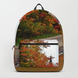 Dirt Road Puddle of Colors Backpack