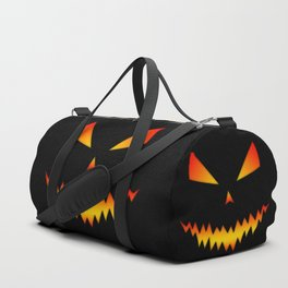Cool scary Jack O'Lantern Halloween Duffle Bag