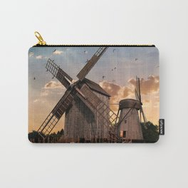 Traditonal dutch windmills at sunrise Carry-All Pouch