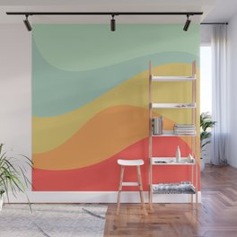 Abstract Color Waves - Bright Rainbow Wall Mural