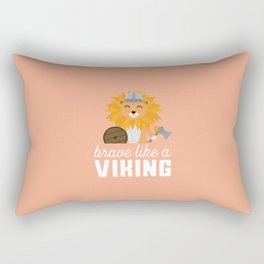 Brave like a Viking T-Shirt for all Ages Dzbpw Rectangular Pillow