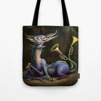 cheshire cat Tote Bags featuring Cheshire Cat by Bendragon