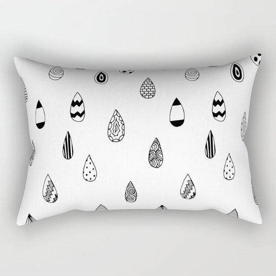 Raindrops of fun Rectangular Pillow