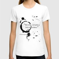 writing T-shirts featuring Hemingway Writing Quote by Novel Reveries