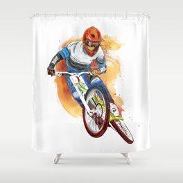 cyclist Shower Curtain