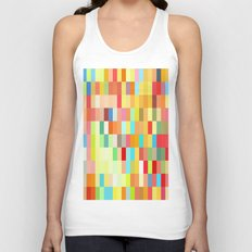 colorful rectangle grid Unisex Tank Top