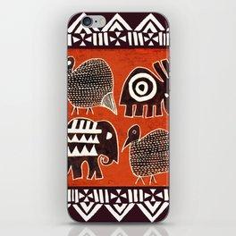 African Animal Folk Art iPhone Skin