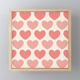 Red Hearts Framed Mini Art Print