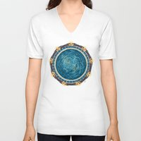 stargate V-neck T-shirts featuring Starry Gate by girardin27