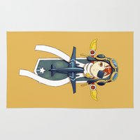pilot Area & Throw Rugs featuring Pilot Banner by Freeminds