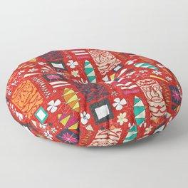 tiki red Floor Pillow