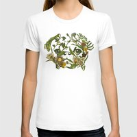shipping T-shirts featuring Botanical Pug by Huebucket