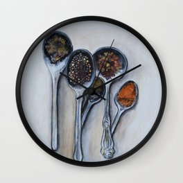 Spoons & Spices Wall Clock
