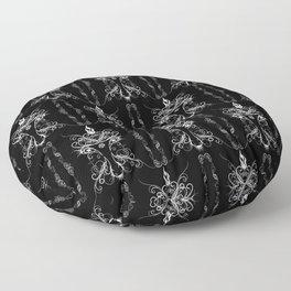 Baphomet Damask Occult Goth Art Floor Pillow