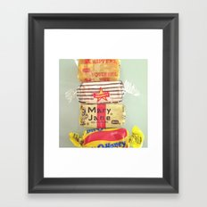 Old School Sweets Framed Art Print