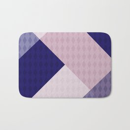 Pink blue patchwork . The combined pattern . Bath Mat
