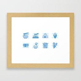 Japapense Menu Framed Art Print