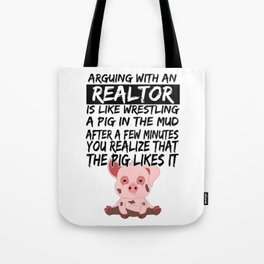 Real Estate Agent Realtor Pig Piglets Tote Bag