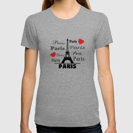 Paris text design illustration 2 T-shirt