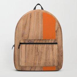 Wood Grain Stripes Orange #840 Backpack