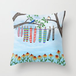 clean socks Throw Pillow