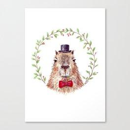 Sir Capybara Canvas Print