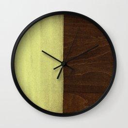 Yellow Paint on Wood Wall Clock