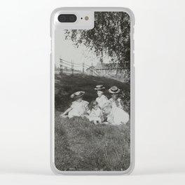 1900 Family Portrait Clear iPhone Case