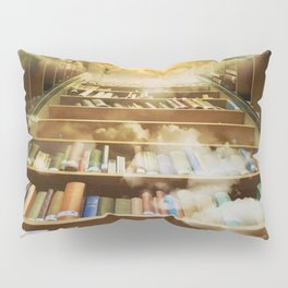 Library of books to heaven surreal portrait Pillow Sham