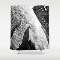 metropolis Shower Curtains featuring Metropolis - New York City by Vivienne Gucwa