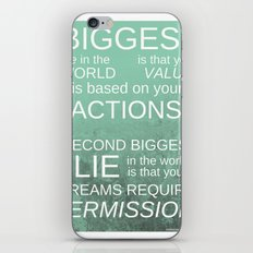 The Biggest Lie iPhone & iPod Skin
