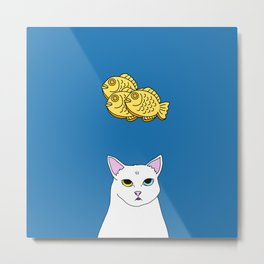 Fat D. Loves Taiyaki Metal Print