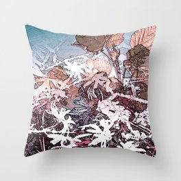 Frosty Transformation to Winter - An abstracted impression Throw Pillow