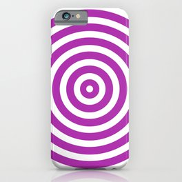 Circles (Purple & White Pattern) iPhone Case