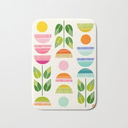 Sugar Blooms - Abstract Retro Inspired Design Bath Mat