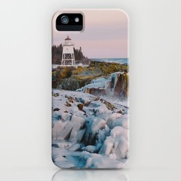 Lighthouse & Ice Formations iPhone Case
