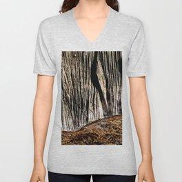 tree bark and wood Unisex V-Neck