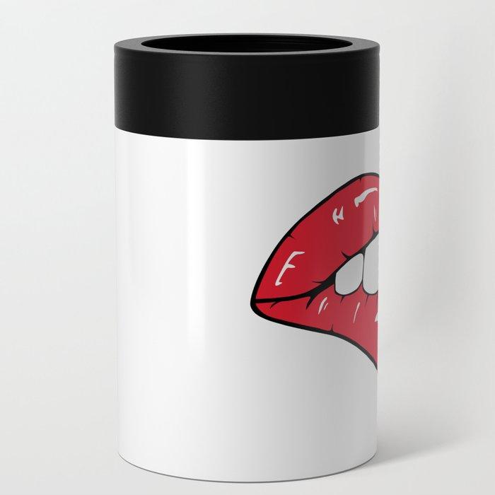 Red Lips Pop art Can Cooler