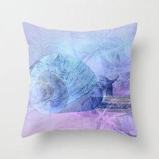Snail house Throw Pillow