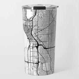 Seattle Map White Travel Mug