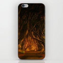 Dark Hedges iPhone Skin