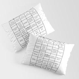 Corporate Jargon Buzzword Bingo Card Pillow Sham