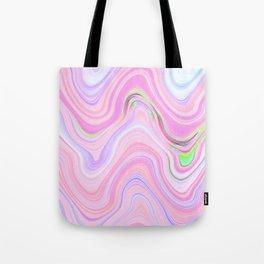Pastel Pink & Violet Lava Marble Tote Bag