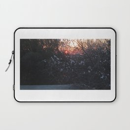 white flowers are going to sleep Laptop Sleeve