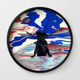 Melt pug Wall Clock