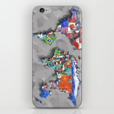 world map with flags iPhone Skin