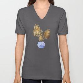 Golden Palms Unisex V-Neck