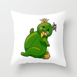 Fat CATuar Throw Pillow